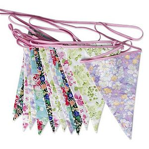 Floral Party Bunting - room decorations