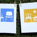 blue/yellow chairs