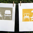 yellow/brown chairs
