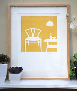 Wishbone Chair Print
