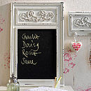 Wht Ornate Chalkboard