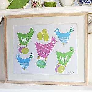 Chickens And Eggs Print