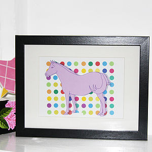 Horse On Spots Print