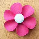 fuchsia button flower