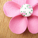 pink flower button detail