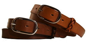 Handmade English Leather Belt - men's accessories
