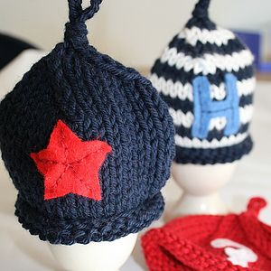 Hand Knitted Egg Hat Cosy - egg cups & cosies