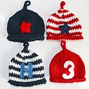 egg hats red blue 4