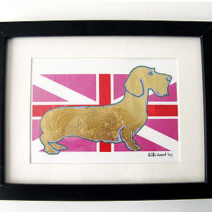 Dachshund On The Flag Print