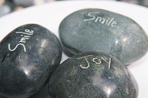 Fair Trade Message Inscribed Pebbles - wedding favours