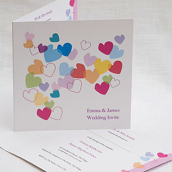 Flying Hearts Wedding Invites by Cherrygorgeous