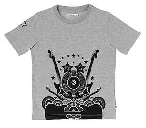 Rock Guitar Organic Cotton T-shirt