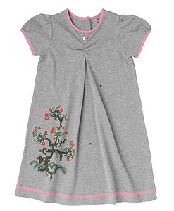 Bonsai Embellished Organic Cotton Dress