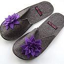 Suzie Slipper Purple