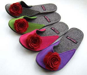 English Rose Slipper - women's fashion