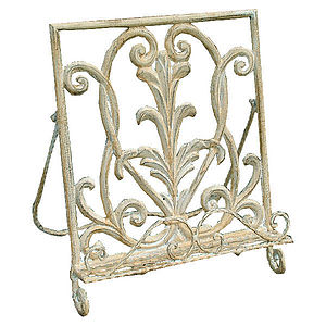 Shabby Chic Iron Cook Book Stand - kitchen accessories
