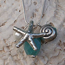 Starfish&Shell Charm Necklace