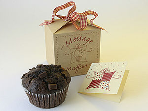 Message Muffin Giftbox - cakes & treats