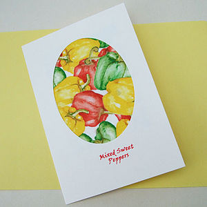 Mixed Sweet  Pepper Seed Card