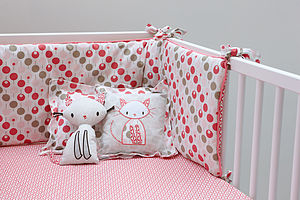 Cot Bumper Set For Girl - baby's room