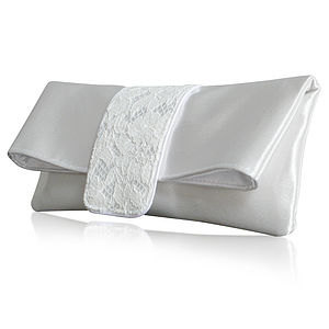 Lexie Ivory Bridal Clutch