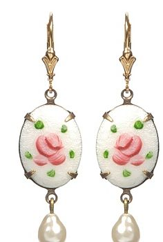 Guilloche Enamel Earrings