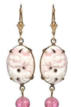 White Japanese Stone Earrings