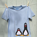 b pale blue penguin