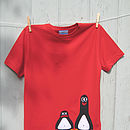 b red penguin