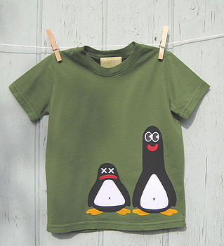 b green penguin T
