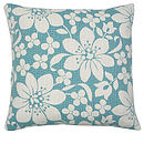 Blossom Cushion Aqua