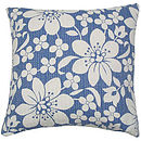 Blossom Cushion Blue