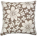Blossom Cushion Brown