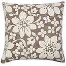 Blossom Cushion Brown