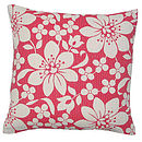 Blossom Cushion Red