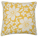 Blossom Cushion Yellow