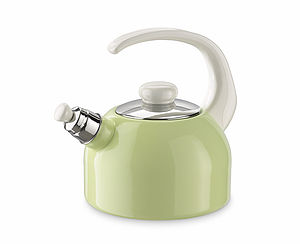 Enamel Whistling Kettle - Green - kitchen