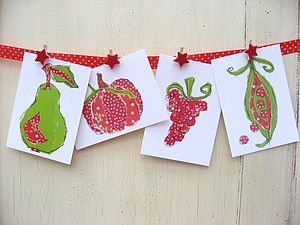 Pack of Eight Fruit and Veg Postcards - cards & invitations