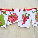Pack of Eight Fruit and Veg Postcards