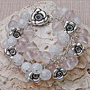 Crystal & Rose Bracelet