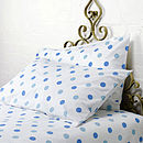 Dotty Bed Linen Blue