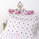 Dotty Bed Linen Pink