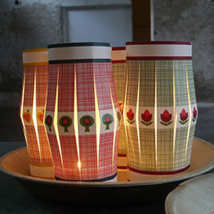 Pack of Seven Paper Lanterns - lights & candles