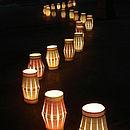 row of lanterns