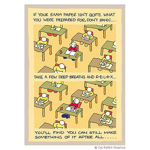 Good Luck Quotes For Board Exams: Exam Paper Good Luck Card By Cat-rabbit Graphics