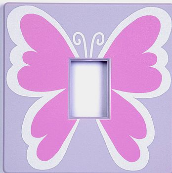 Pink Butterfly Switch Cover