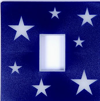 Blue Stars Light Switch Cover