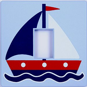 Sailing Boat Light Switch Cover - children's lighting