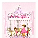 Ava & The Carousel Fine Art Print
