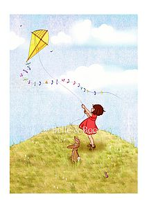 Fly A Kite Fine Art Print - pictures & prints for children